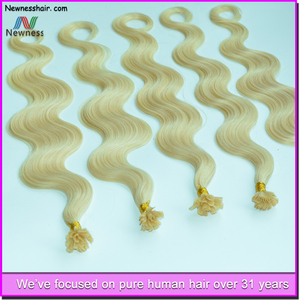 Newness Hair double drawn hair extension unprocessed human hair itip extensions