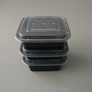 Safety Certified 1000ml microwavable hermetic disposable plastic square food container