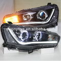 2008-2013 Year Mitsubishi Lancer Exceed LED Headlights Angel Eyes YZV5