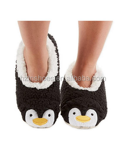 Snoozies Womens Animal Heads Sherpa Plush Fleece Lined Foot coverings