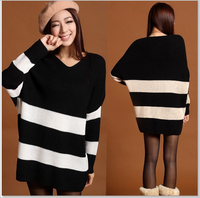 2016 fashion bat sleeve sweater big size loose maternity sweater for fat pregnant women