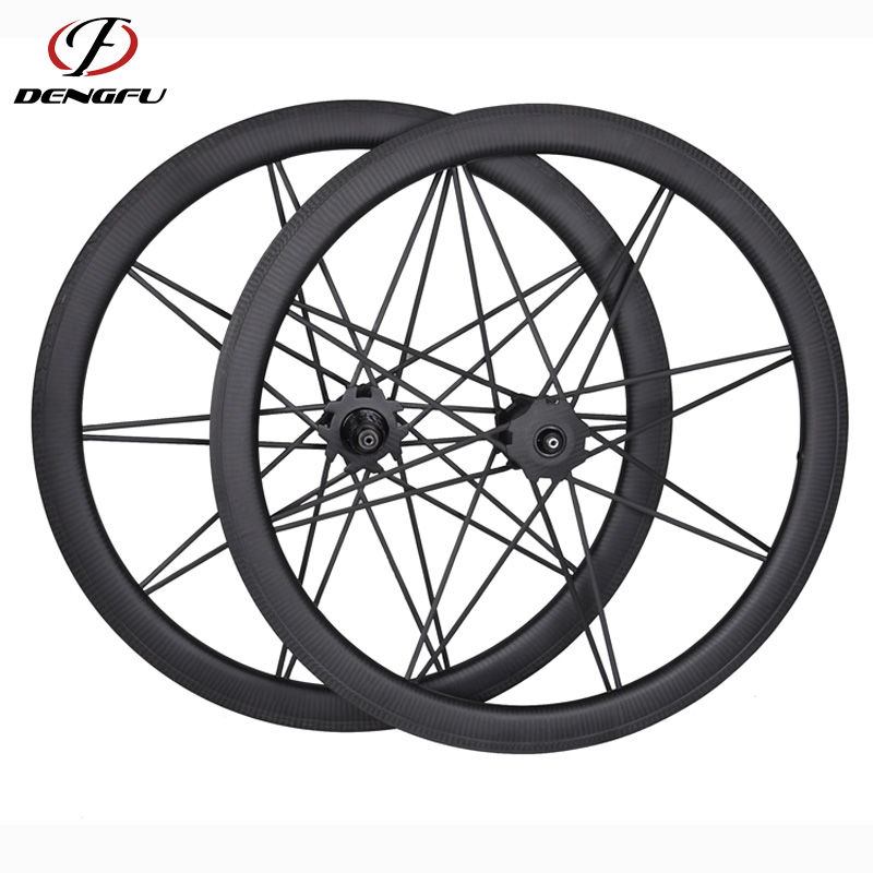 700C 23mm wide 46mm depth Clincher carbon road bike wheels with full carbon spokes