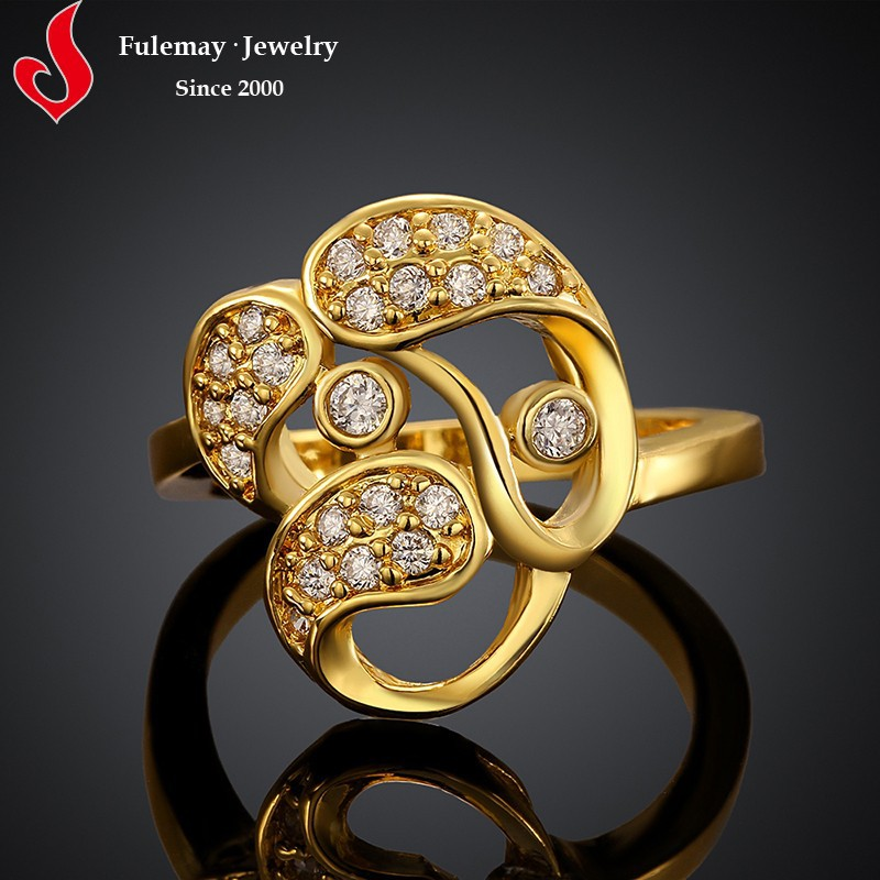 Vogue designer wedding gold rings new model 2013 FCR062-A/B