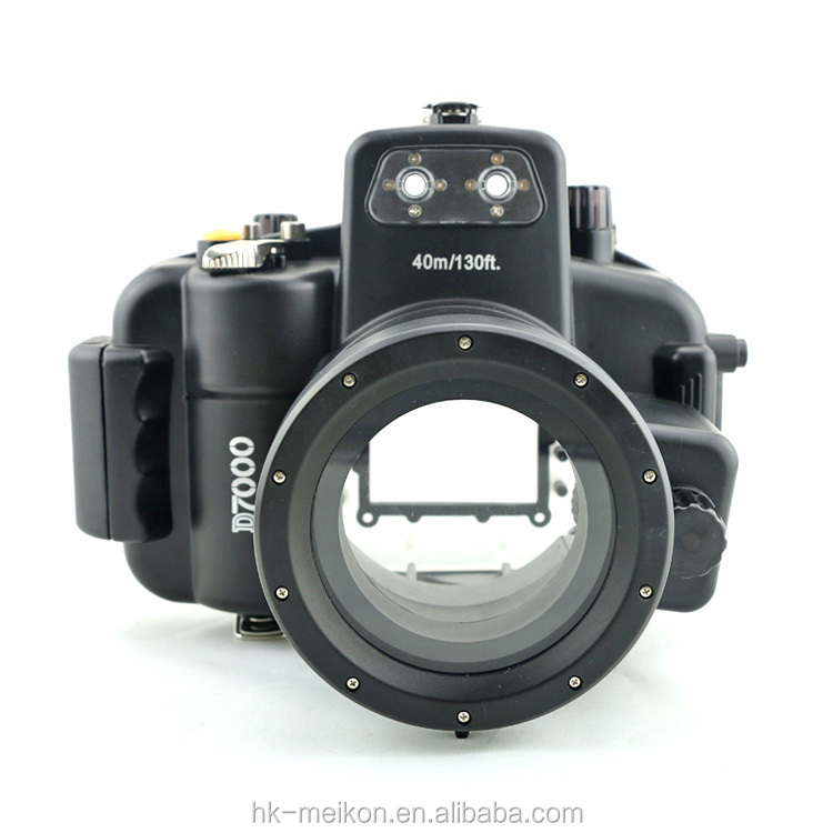 Meikon 40M 130ft Digital Underwater Camera for Nikon D 7000(18mm-55mm),compatible with a complete diving accessories