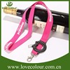Lowest price sale pink polyester lanyard with no moq