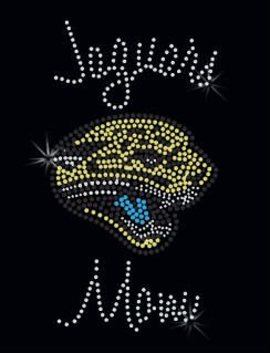 Beautiful jaguar Rhinestone transfer design