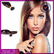 Buy direct from china factory 100% human i tip wholesale brazillian hair extensions