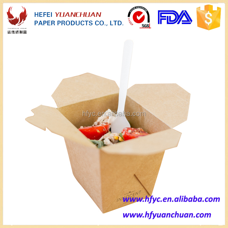 Takeaway hot food paper box from Hefei manufacturer
