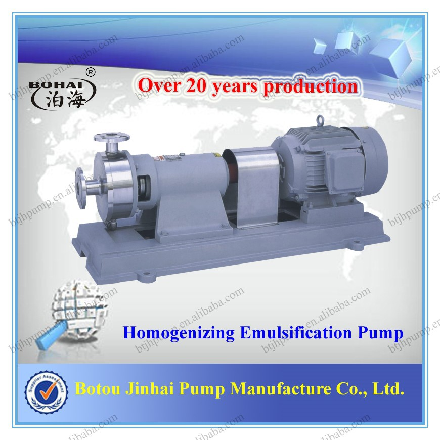 Homogenizing/Homogeneous emulsification pump, Inline Homogenizing Pump