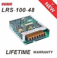 Slim type 48v 2.1a 100w LRS-100-48 ac to dc 110V/220V Switching Power Supply CCTV power supply with CE ROHS approved