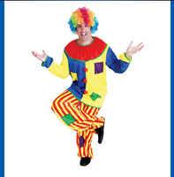 DJ-073yiwu caddy Funny clown fancy dress, professional clown costumes, clown oil painting