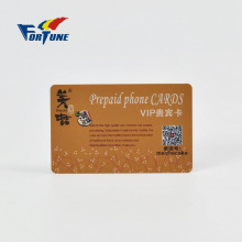 VIP prepaid top-up foil stamp phone cards with wechat qr code