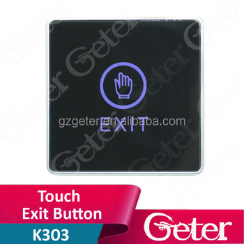 Door open exit button finger push exit button