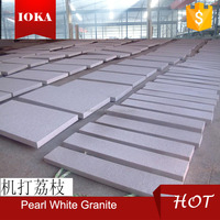 china polished pearl white granite