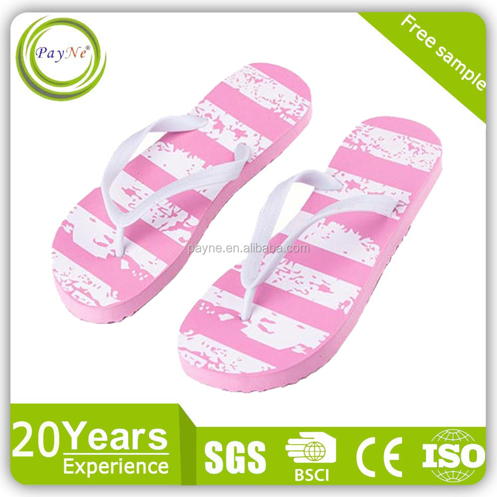 Summer slipper cartoon printed beach kids flip flops wholesale