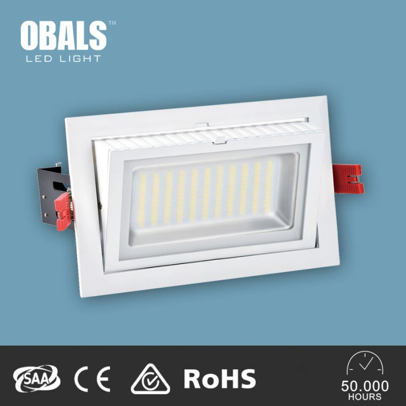 wholesale 227X130mm cut out 20w dimmable adjustable rectangular samsung 5630 led downlight