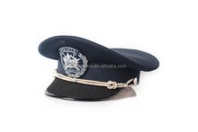 military police officer peak cap hat with rank