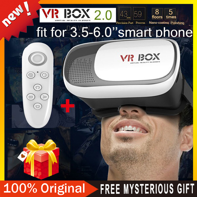 "VR BOX 3.0 PRO 2.0 Version Google Cardboard VR Virtual 3D Glasses for 3.5"" - 6.0"" Smart Phone+Bluetooth Remote Controller"