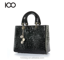 Wholesale bags designer brand large women bag pu leather handbags with pendant