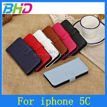 genuine Leather Case For iphone 5c top Quality Leather Cover With Stand