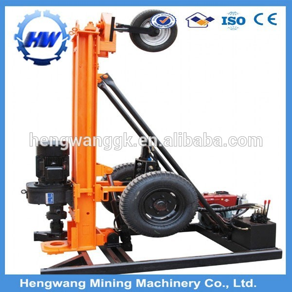 Pneumatic air leg rock drills down the hole Crawler mining Drilling Rig