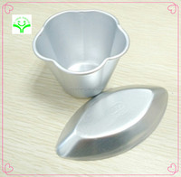 Delicate unique small portable aluminum mold cake various choose kids like divided cake pans