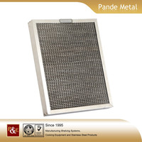Factory made high quality stainless steel grease baffle filter