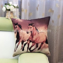 2016 China factory supplies wholesale alibaba selling well 45*45 100% cotton horse pillow cover