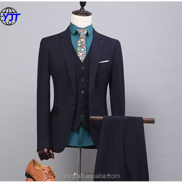 Plain Design Black Business Formal Dress Man Suit Wedding Suits Pictures for Men