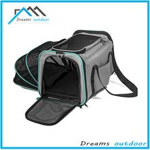 Expandable Airline Approved IATA Carry On Travel Pet Dog Cat Soft-Sided Carrier Bag