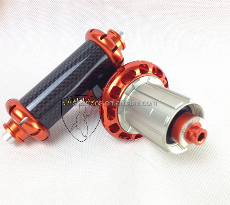 SoarRocs Orange color Powerway R36 hub for road bike wheel straight pull carbon hub +alloy