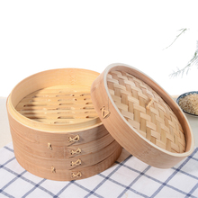 Carbonized commercial food dumpling mini bamboo steamer