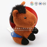 Lovely plush stuffed cartoon horse toy for girls