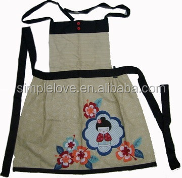 Customise Embroidered Linen Cotton Cross Back Apron
