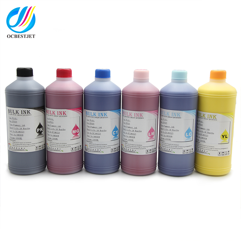 Ocbestjet 1000ML/Bottle Universal Pigment Ink For HP 5000 5500 130 <strong>120</strong> 120nr