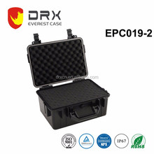 Hard Plastic waterproof shockproof logo-customized carrying protective equipment case with handle for tools