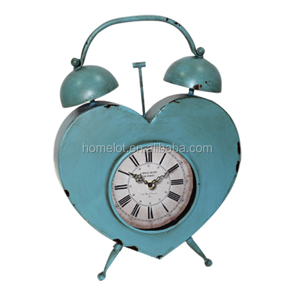 Creative Colorful Antique Home Decorative Metal Promotional Table Round Clock