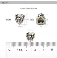 China wholesale point back heart shape fancy stone for wedding dress