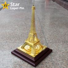 Custom Metal Souvenir DIY Gift Gold Paris Eiffel Tower 3D Brass Model