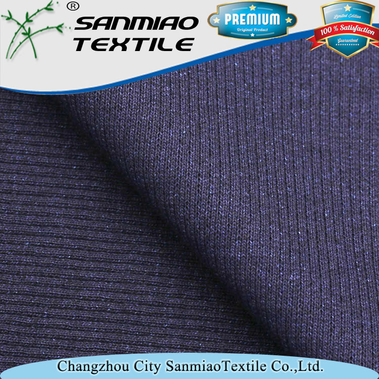 New design 330g indigo rib knitted denim fabric for making cuff
