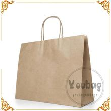 wholesale white and brown craft paper bag with logo print for shopping