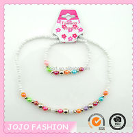 2014 Fashion Bead Bracelet Necklace Set For Kids
