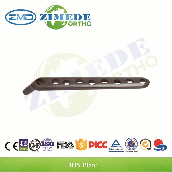 Orthopedic implants ISO CE DHS 130 degree femur hip fracture angle plate