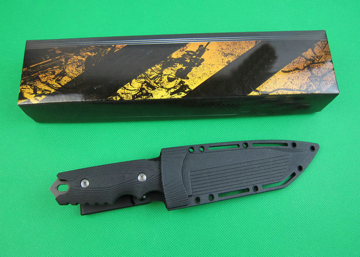 OEM mini tactical survival knives fixed blade hunting knife outdoor tool hand 7Cr17 59HRC blade ABS handle 1616