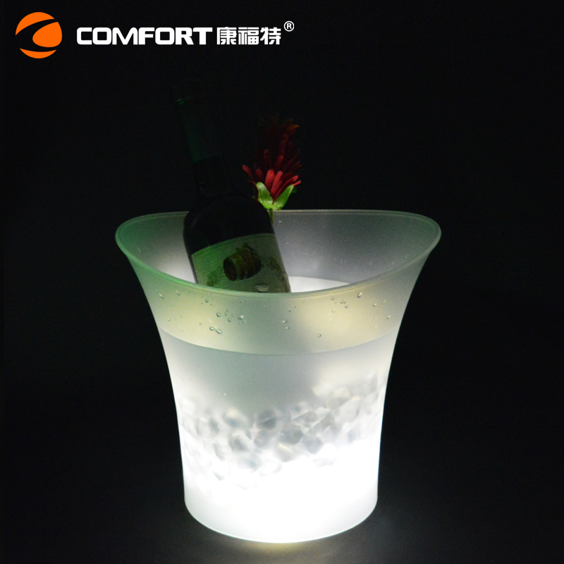 Plastic Beverage Ice Tub party Wine Bucket LED Ice Bucket Wine Bottle Holder