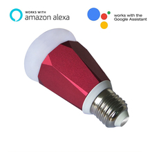 GSM app remote control 7W RGB wifi led bulb smart wifi led home lighting compatible with alexa/echo