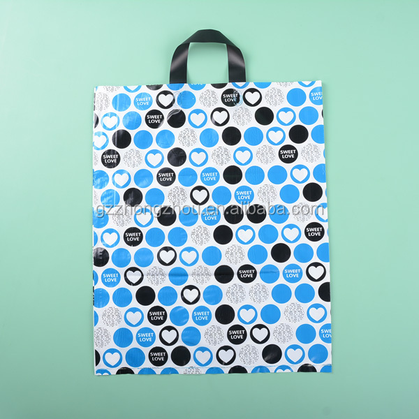Polietilen low density plastic handle shopping bag