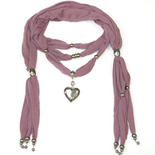 Fashion new style pendant scarf with handmade jeweled wholesale