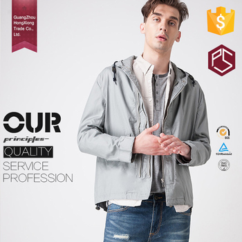 Made in China Factory Good Cost Performance Gray Windproof Loose and Comfortable Biker Jacket