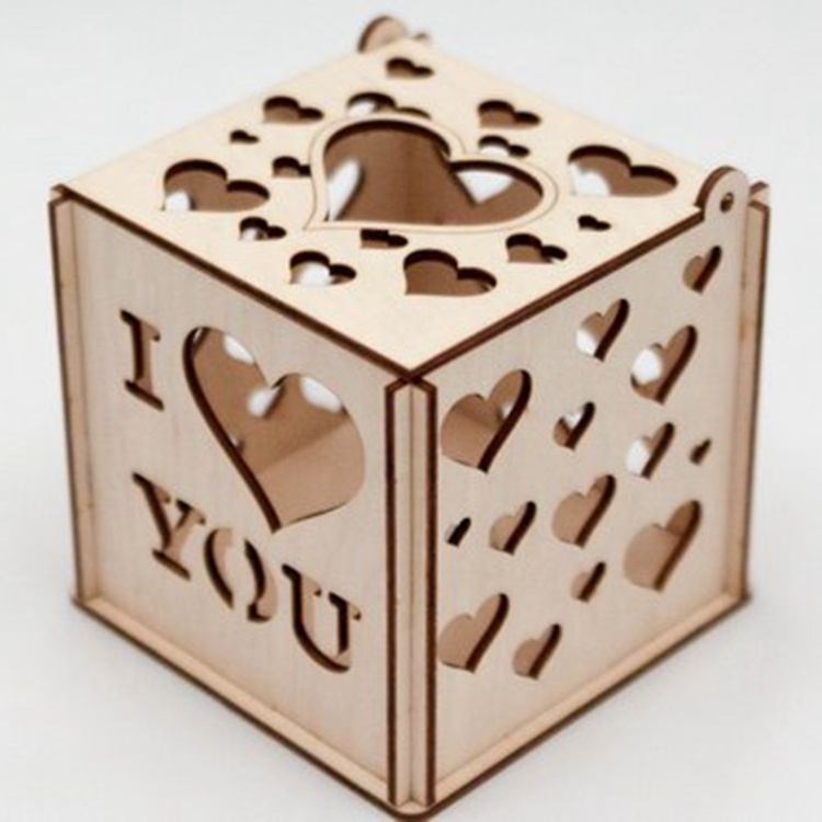 wood cheap christmas candle holder wood box